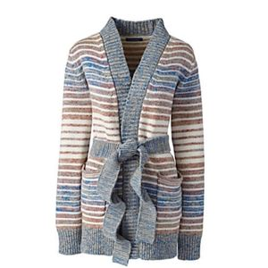 Lands' End Lofty Blend Tie Cardigan-Size 3X